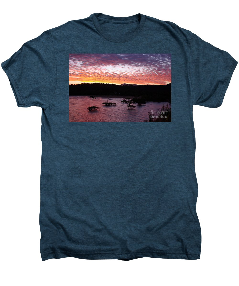 Landscape Men's Premium T-Shirt featuring the photograph Four Elements Sunset Sequence 3 Coconuts Qld by Kerryn Madsen - Pietsch