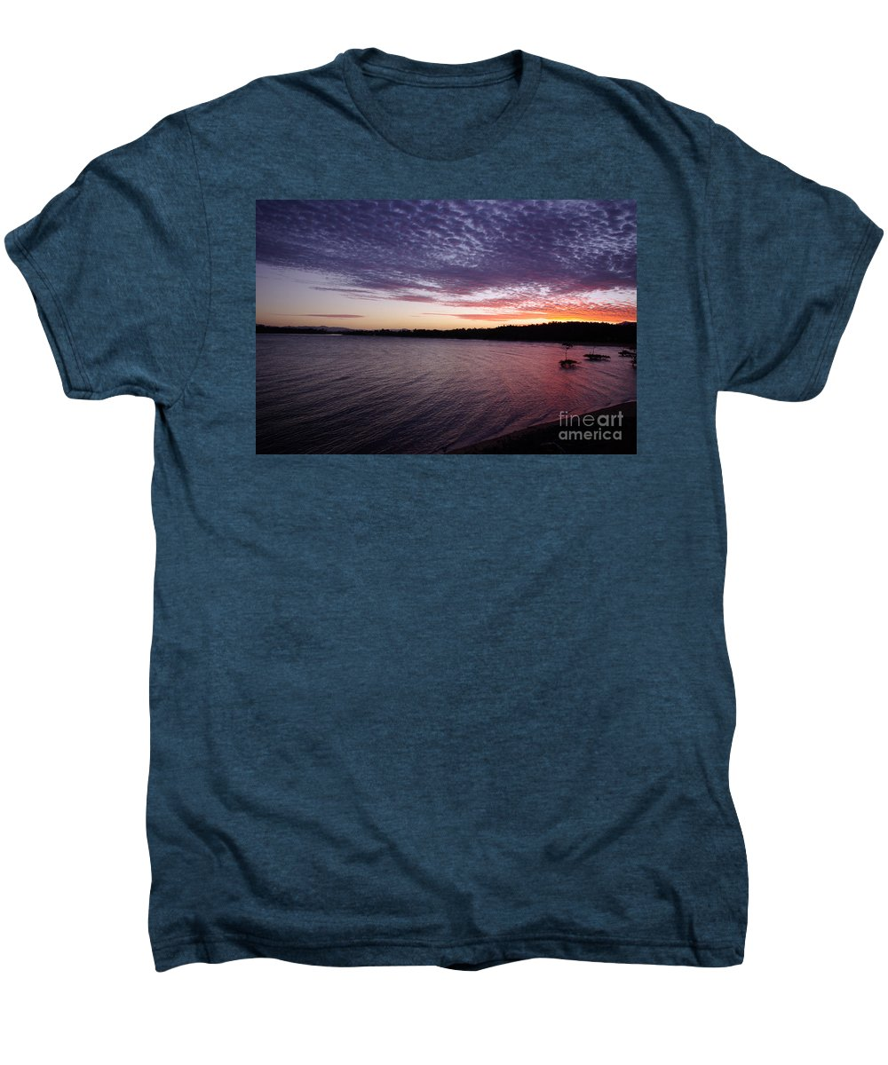 Landscape Men's Premium T-Shirt featuring the photograph Four Elements Sunset Sequence 4 Coconuts Qld by Kerryn Madsen- Pietsch