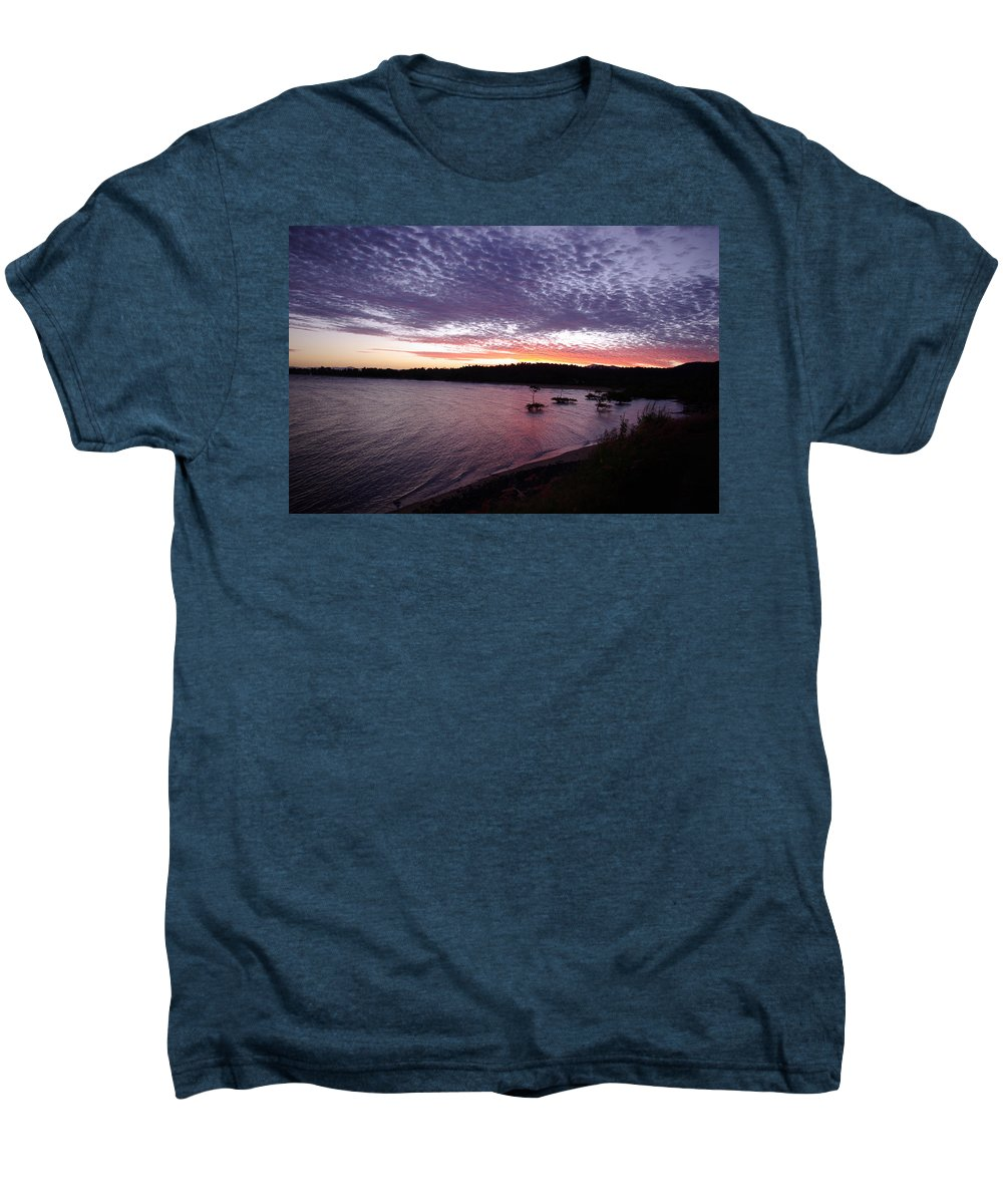 Landscape Men's Premium T-Shirt featuring the photograph Four Elements Sunset Sequence 6 Coconuts Qld by Kerryn Madsen-Pietsch