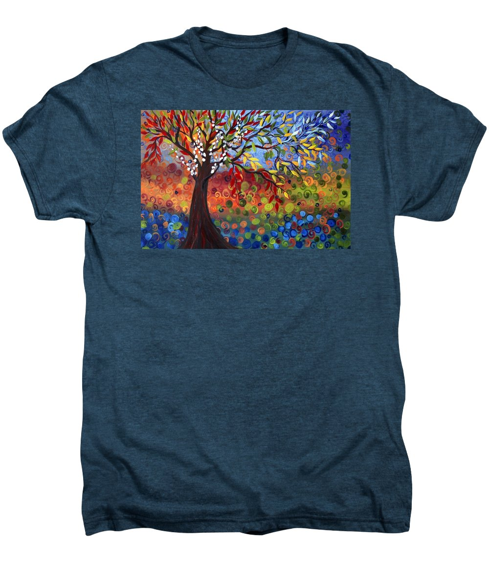 Art Men's Premium T-Shirt featuring the painting Four Seasons by Luiza Vizoli