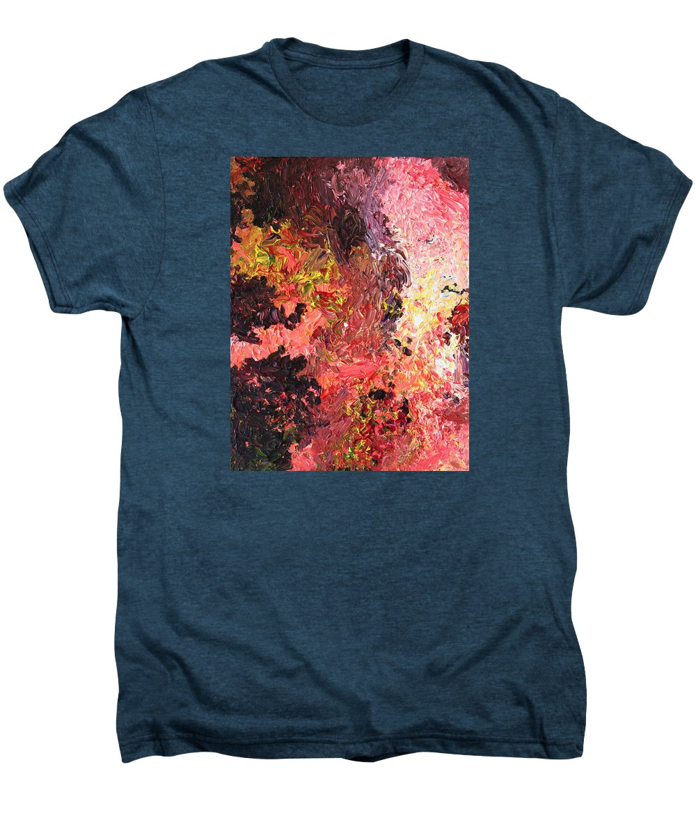 Fusionart Men's Premium T-Shirt featuring the painting Ganesh In The Garden by Ralph White