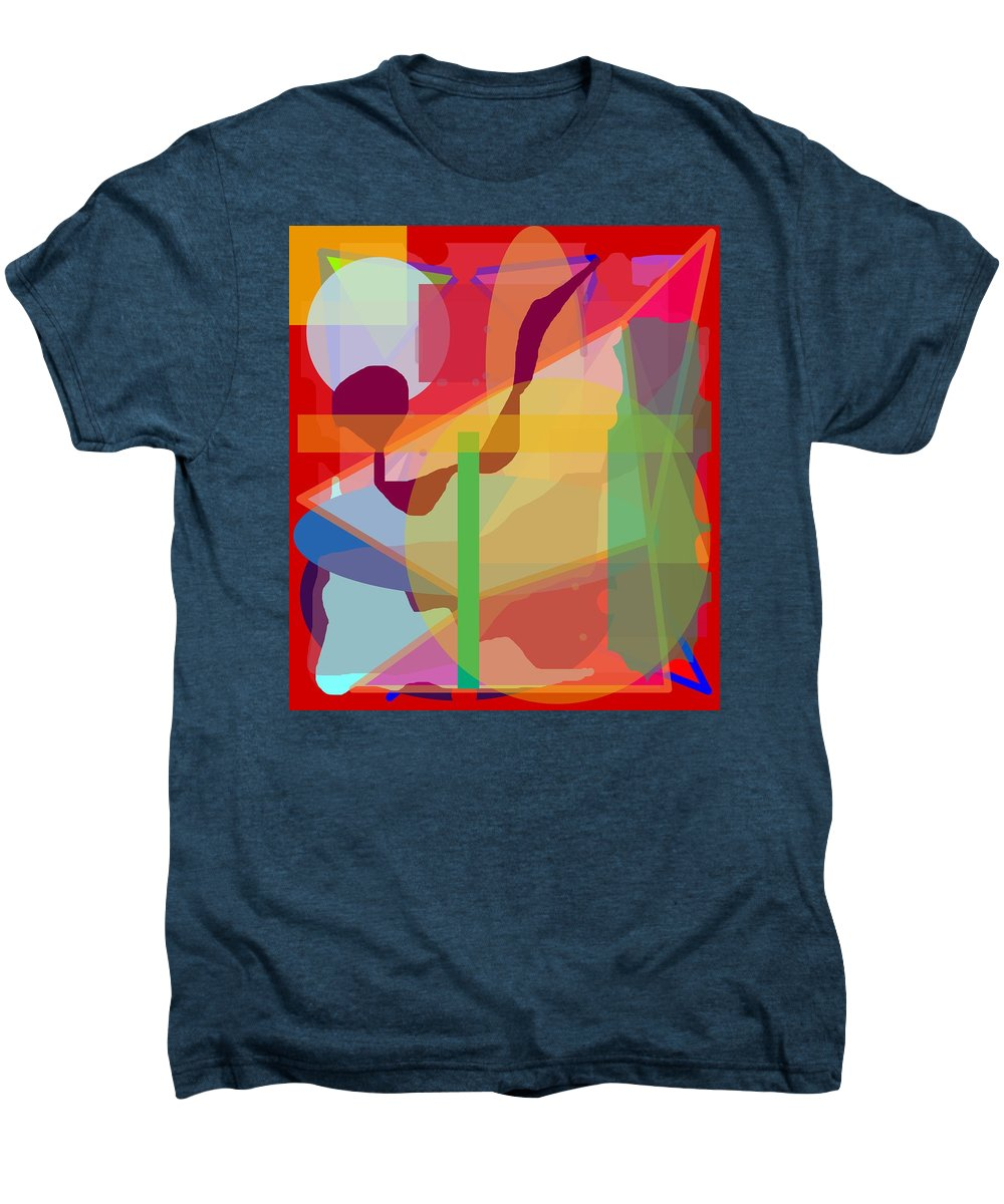 Abstract Men's Premium T-Shirt featuring the painting Geo Frenzy by Pharris Art