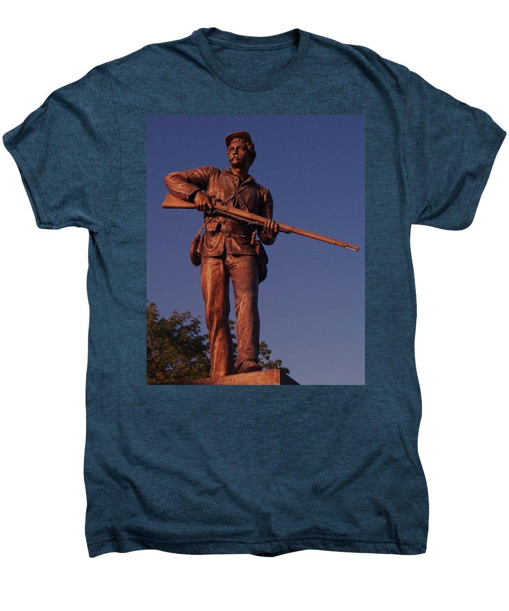 Gettysburg Men's Premium T-Shirt featuring the photograph Gettysburg Statue by Eric Schiabor