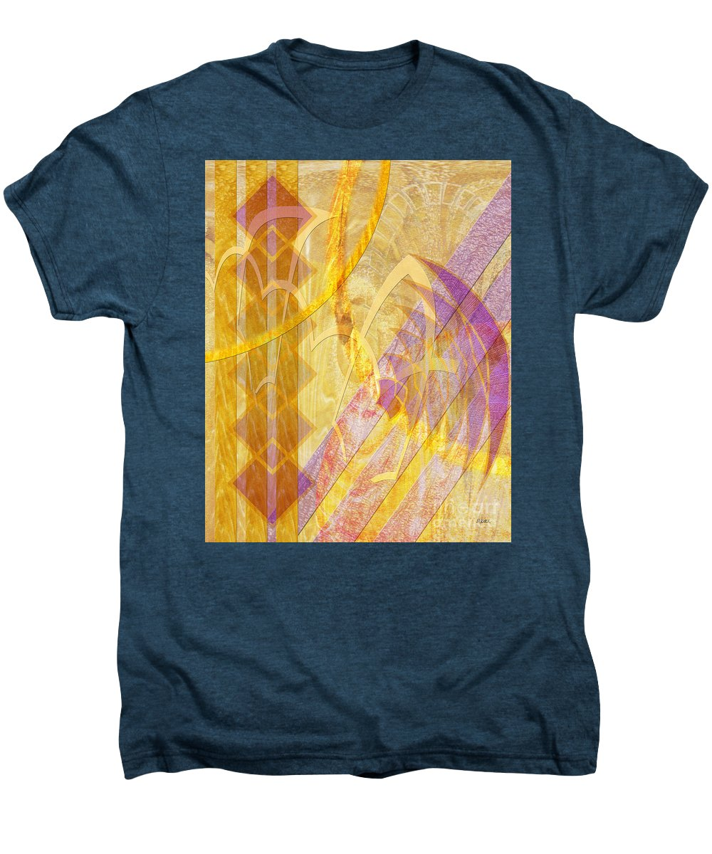 Gold Fusion Men's Premium T-Shirt featuring the digital art Gold Fusion by John Beck