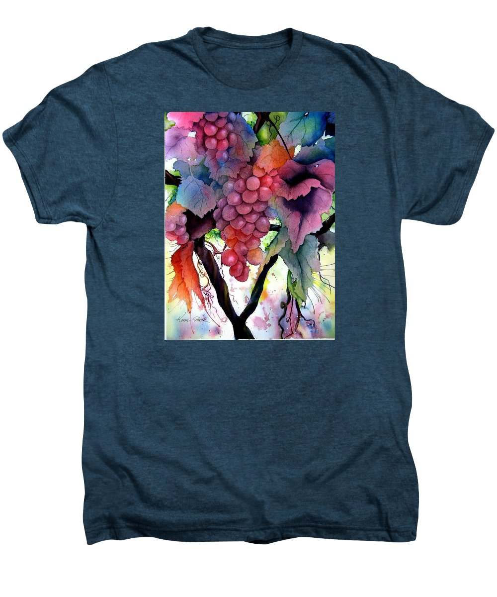 Grape Men's Premium T-Shirt featuring the painting Grapes IIi by Karen Stark