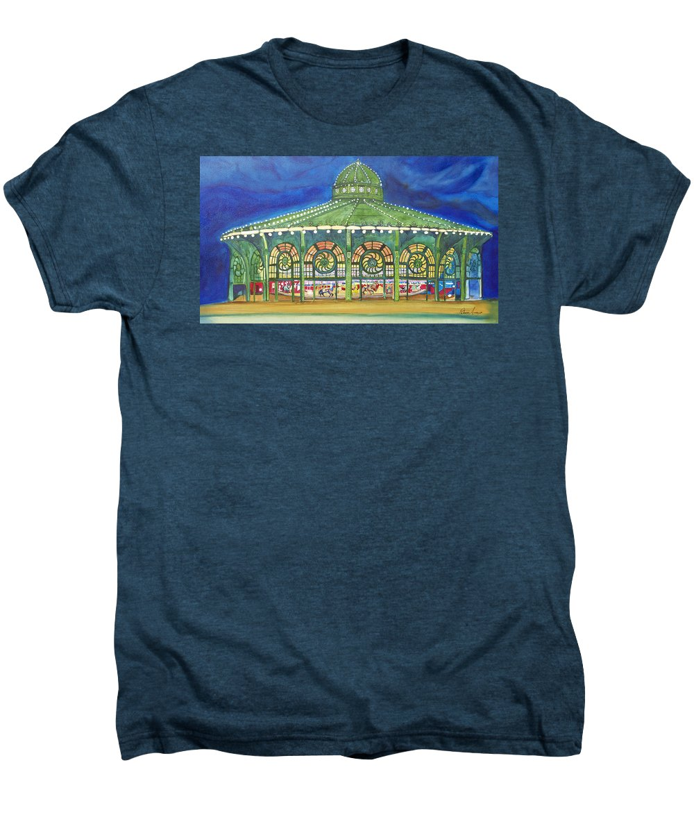 Night Paintings Of Asbury Park Men's Premium T-Shirt featuring the painting Grasping The Memories by Patricia Arroyo