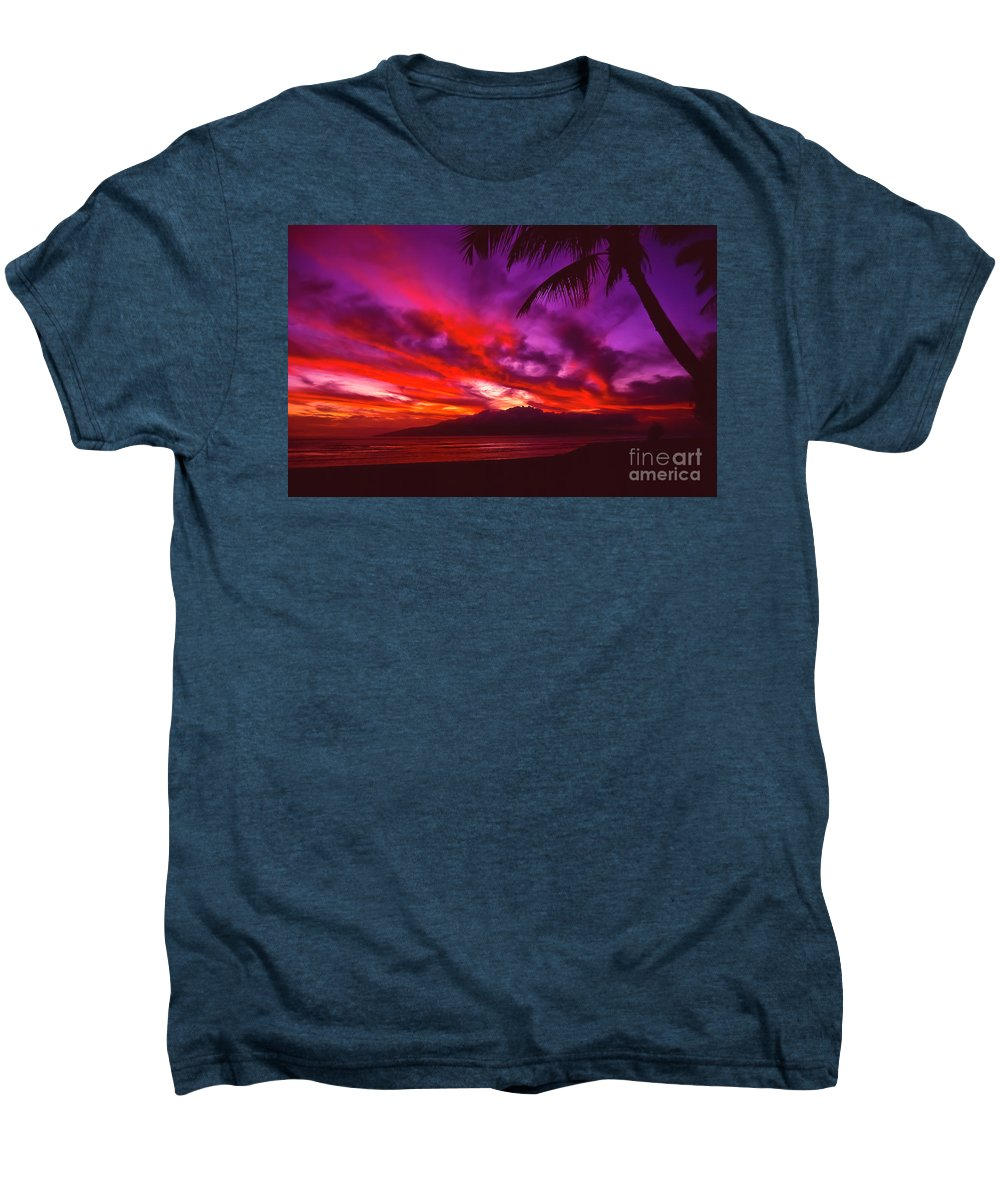 Landscapes Men's Premium T-Shirt featuring the photograph Hand Of Fire by Jim Cazel