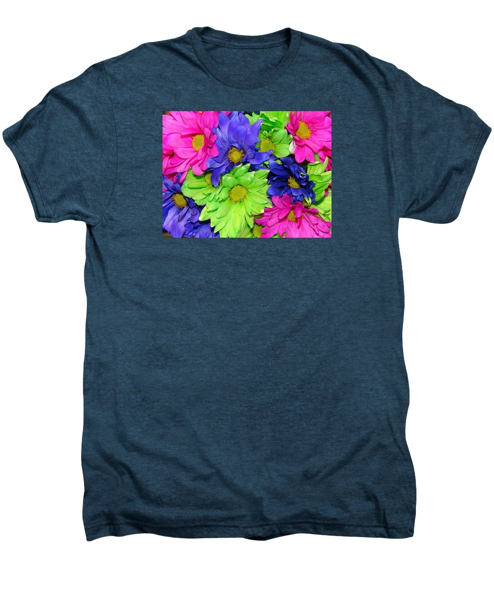 Flowers Men's Premium T-Shirt featuring the photograph Happiness by J R  Seymour