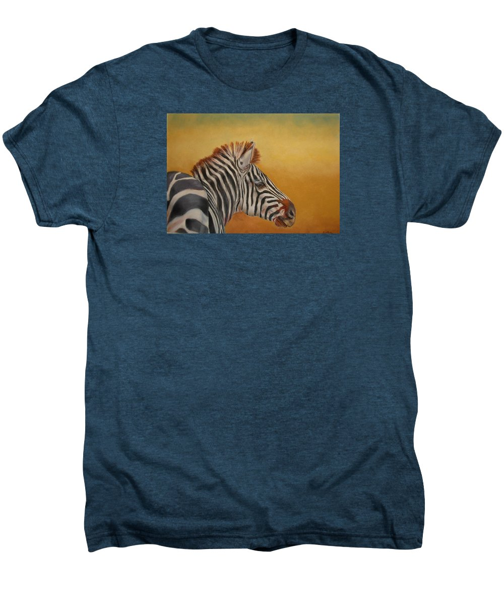 Africa Men's Premium T-Shirt featuring the painting Hello Africa by Ceci Watson