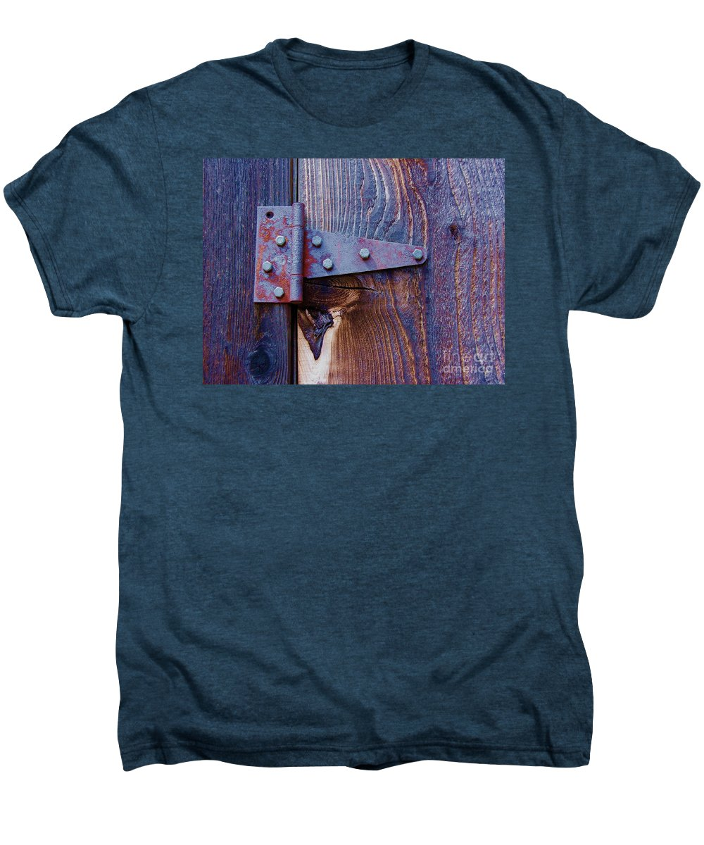 Hinge Men's Premium T-Shirt featuring the photograph Hinged by Debbi Granruth