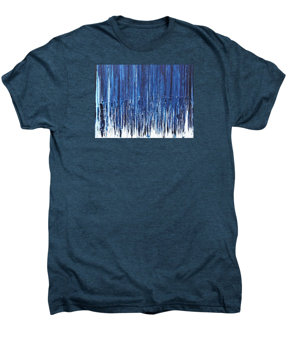Fusionart Men's Premium T-Shirt featuring the painting Indigo Soul by Ralph White
