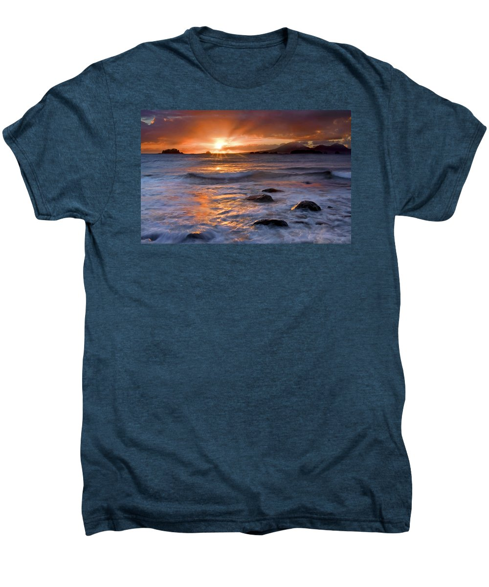 Alaska Men's Premium T-Shirt featuring the photograph Inspired Light by Mike Dawson