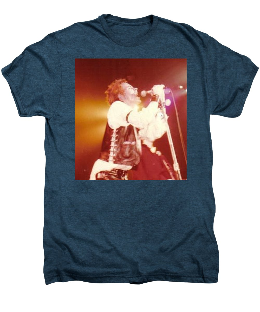John Rotten-1978 Copyrighted Dawn Wirth Men's Premium T-Shirt featuring the photograph John Rotten-1978 In San Francisco  by Dawn Wirth