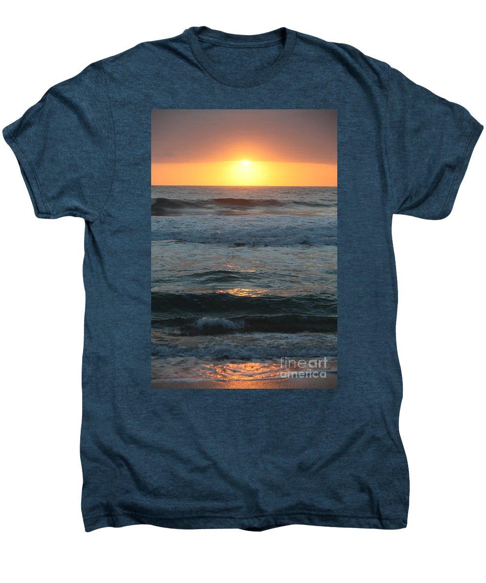 Kauai Men's Premium T-Shirt featuring the photograph Kauai Sunrise by Nadine Rippelmeyer