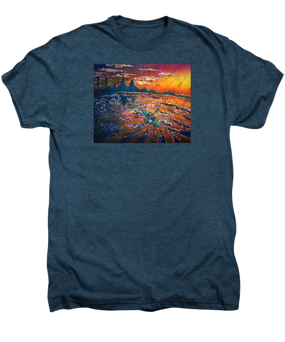 Kayak Men's Premium T-Shirt featuring the painting Kayak Serenity by Sue Duda