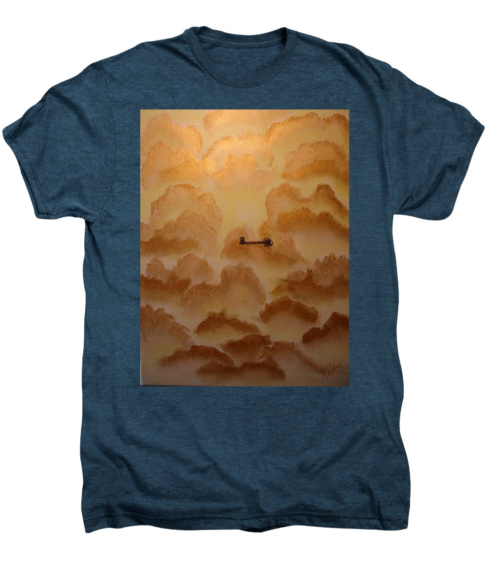 Gold Men's Premium T-Shirt featuring the painting Keys To The Kingdom by Laurie Kidd