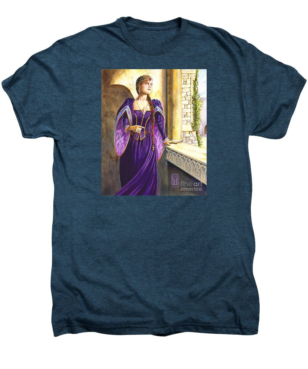 Camelot Men's Premium T-Shirt featuring the painting Lady Ettard by Melissa A Benson