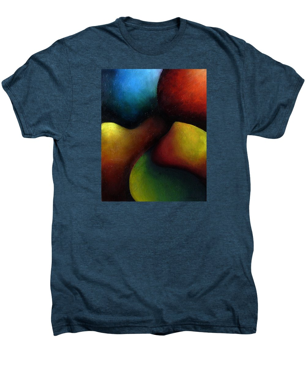 Fruit Men's Premium T-Shirt featuring the painting Life's Fruit by Elizabeth Lisy Figueroa