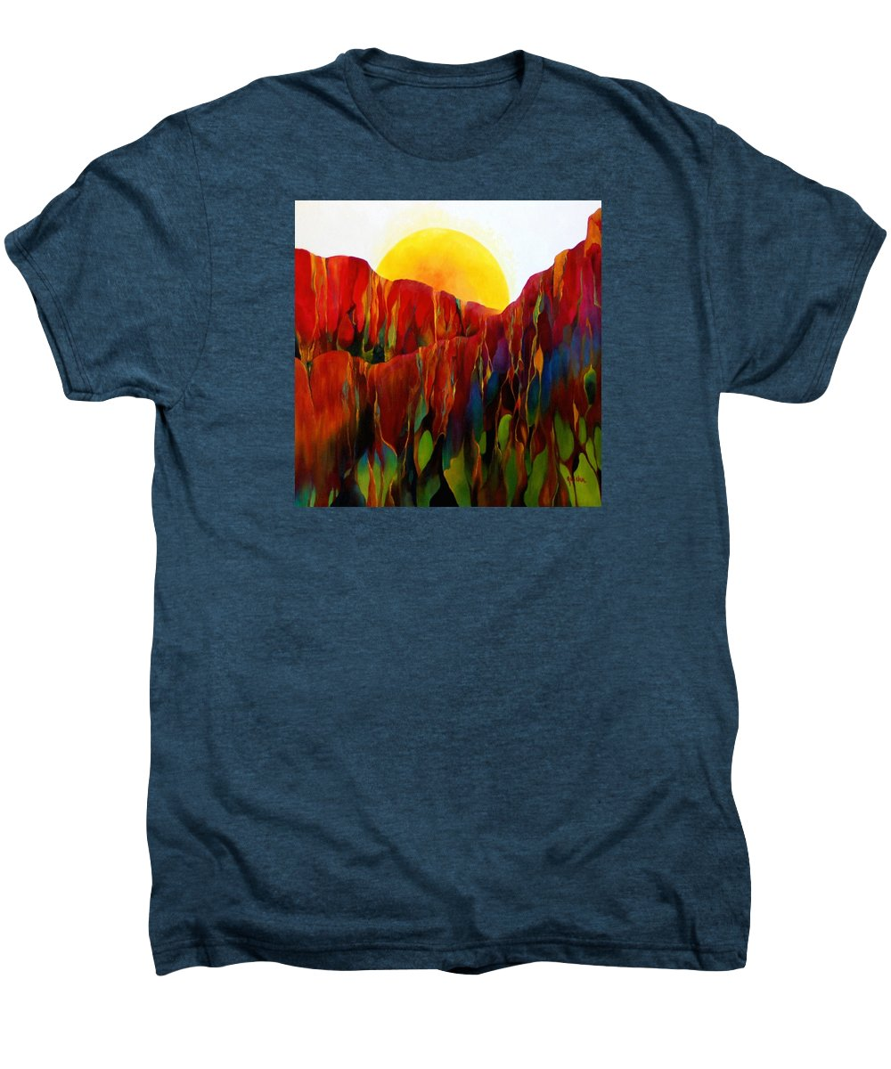 Oil Men's Premium T-Shirt featuring the painting Living Earth by Peggy Guichu
