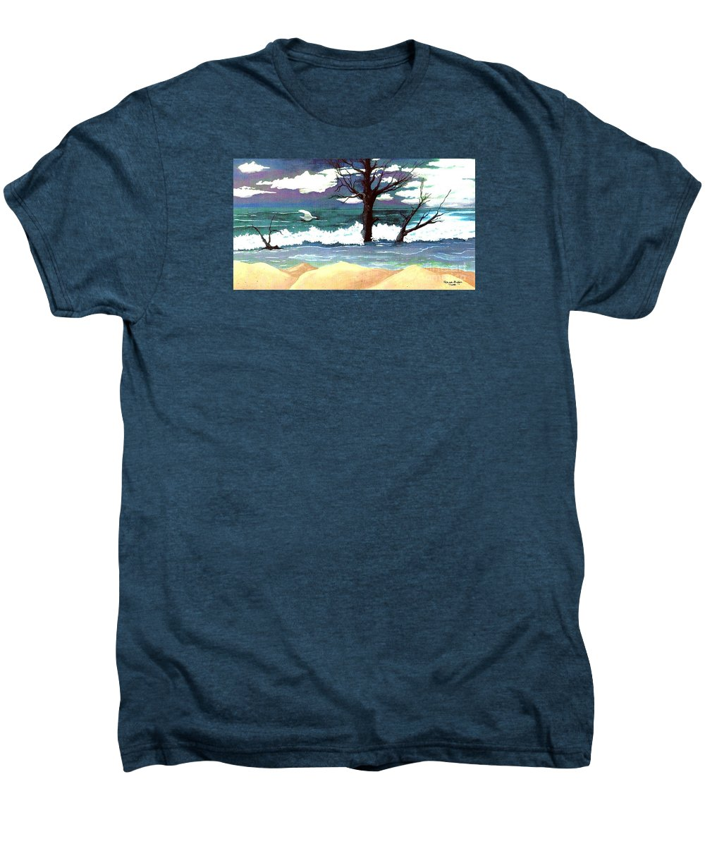 Original Watercolor Painting Men's Premium T-Shirt featuring the painting Lost Swan by Patricia Griffin Brett