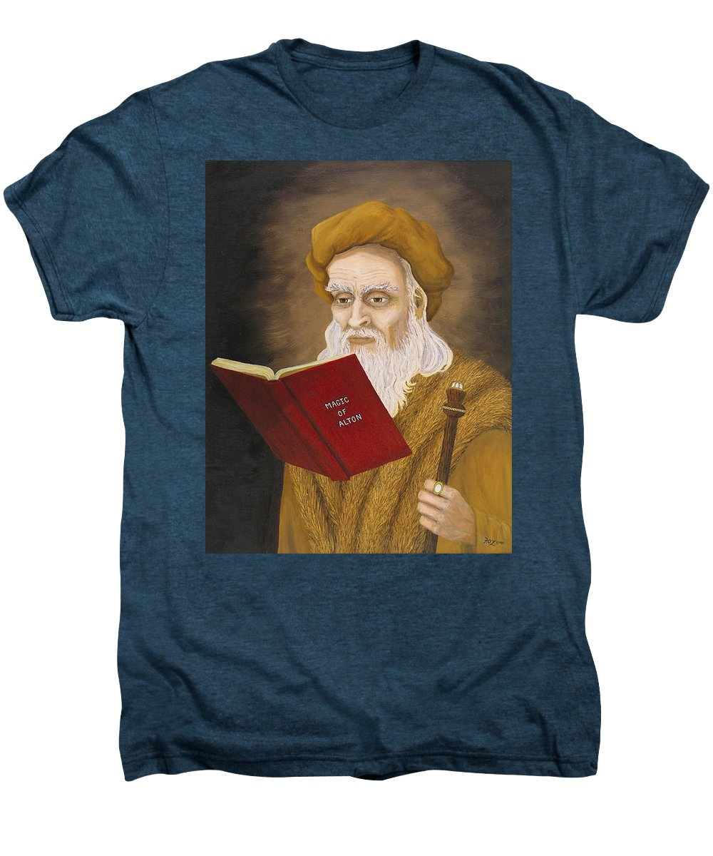 Magic Men's Premium T-Shirt featuring the painting Magic Of Alton by Roz Eve