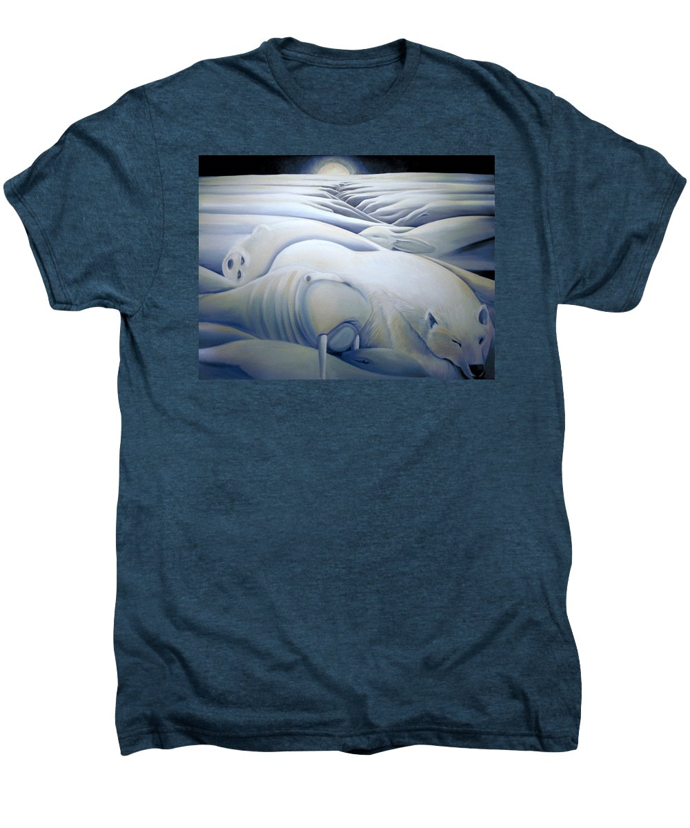 Mural Men's Premium T-Shirt featuring the painting Mural Winters Embracing Crevice by Nancy Griswold