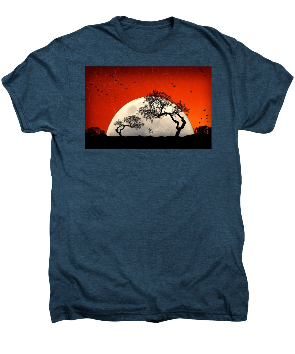 Moon Men's Premium T-Shirt featuring the digital art New Growth New Hope by Holly Kempe