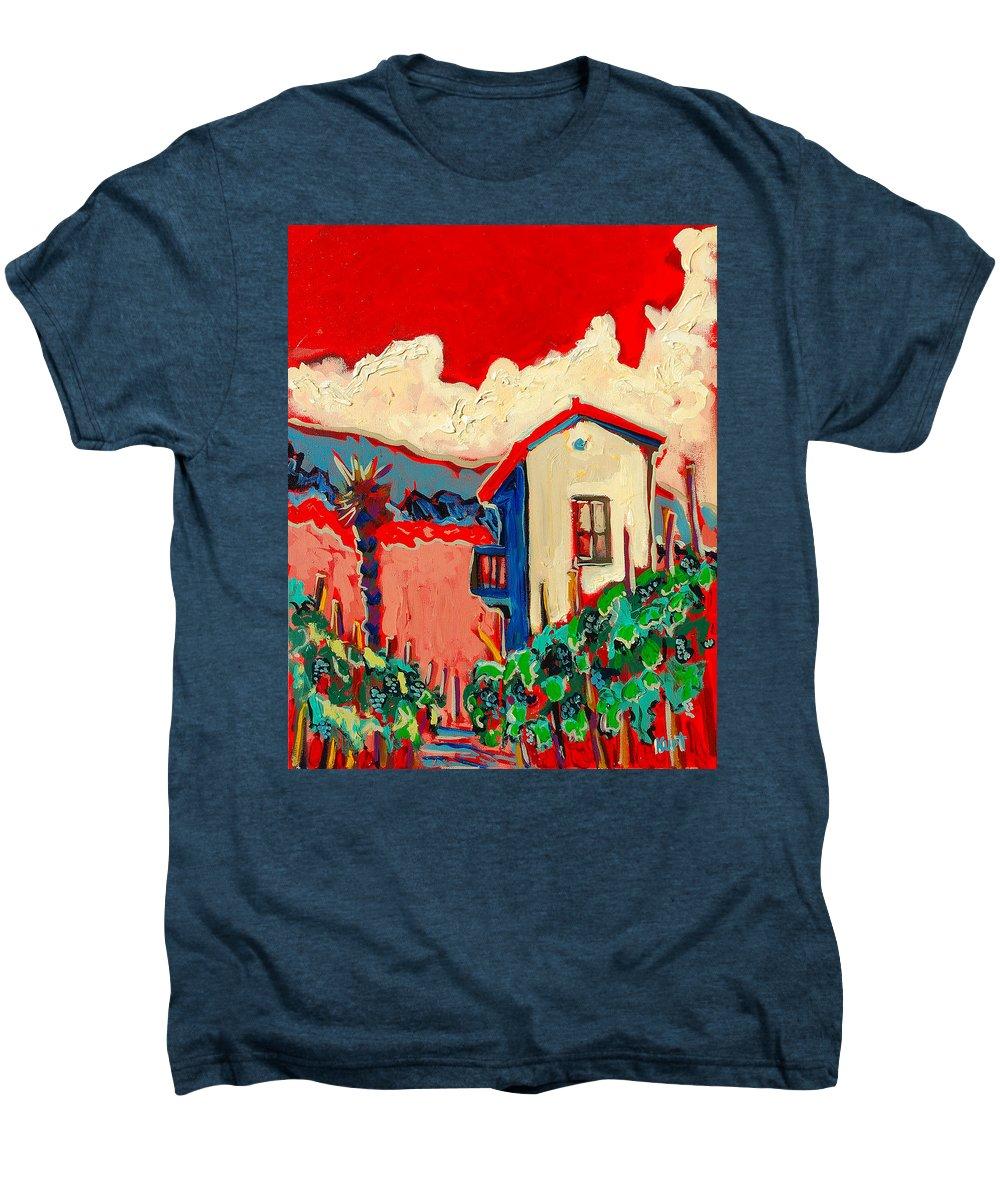 Tuscany Men's Premium T-Shirt featuring the painting Notare by Kurt Hausmann