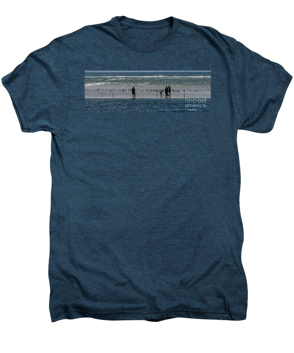 Atlantic Ocean Men's Premium T-Shirt featuring the photograph Ocean Way by Greg Patzer