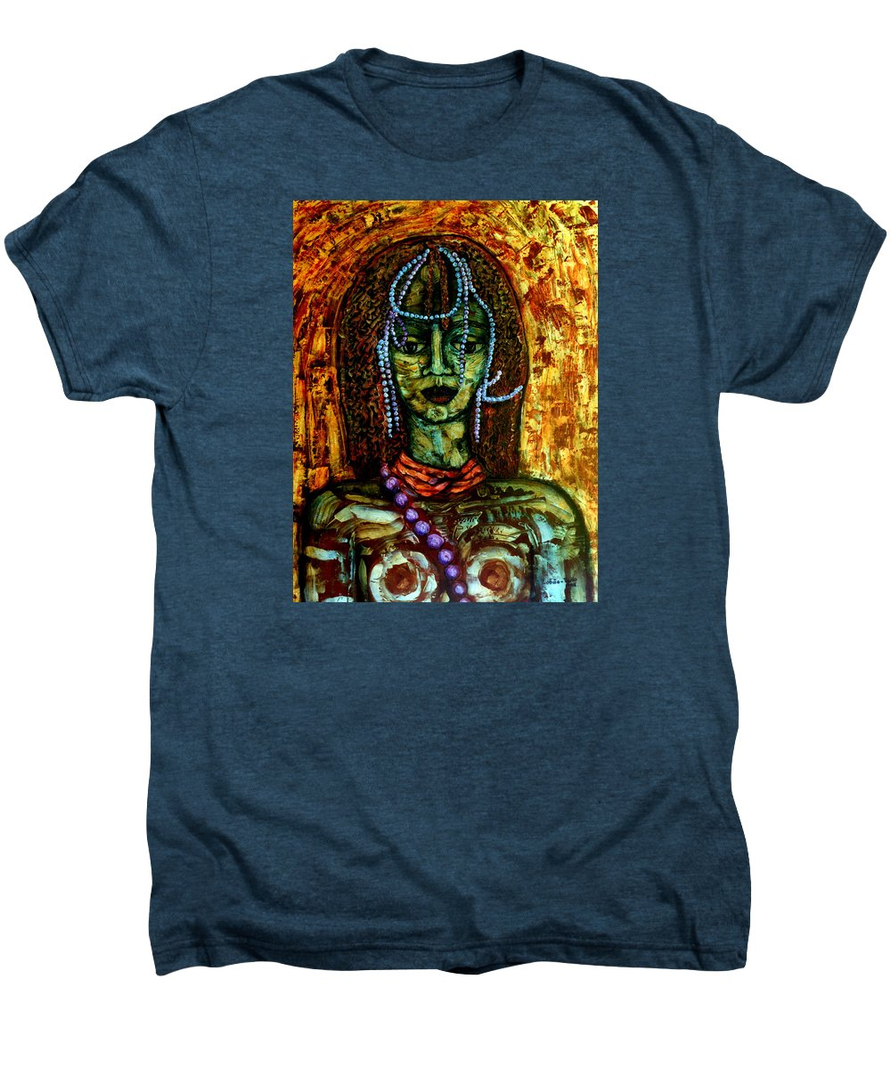 Memories Men's Premium T-Shirt featuring the painting Of Another Childhood I Keep Memories by Madalena Lobao-Tello
