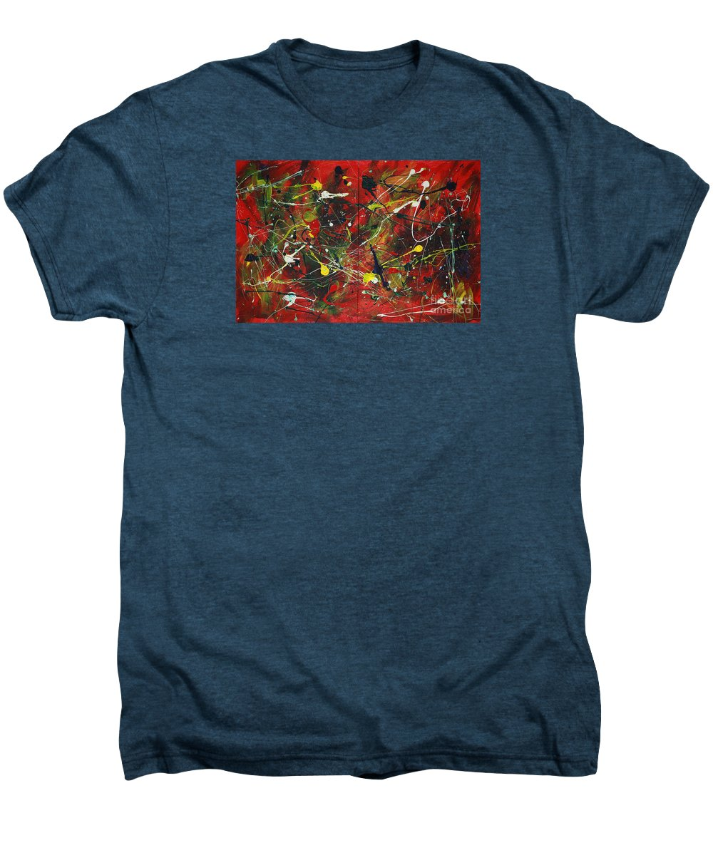 Splatter Men's Premium T-Shirt featuring the painting On A High Note by Jacqueline Athmann