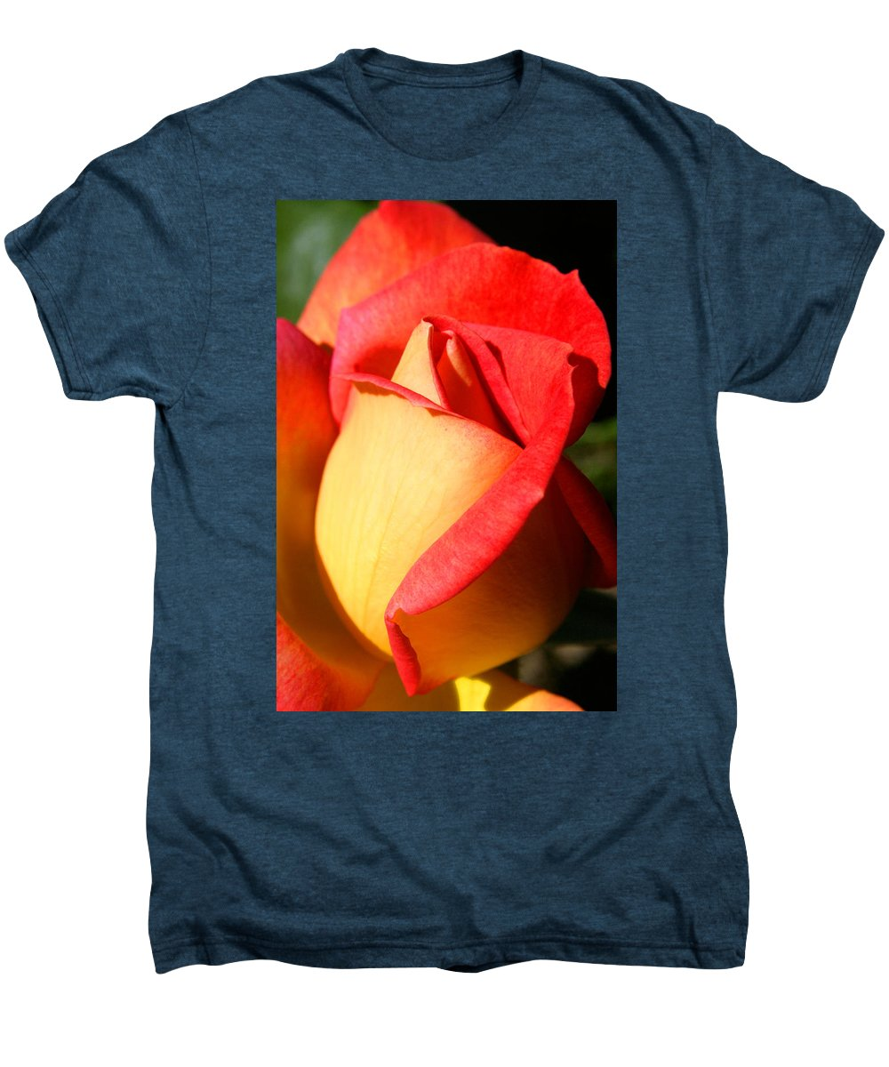 Orange Rosebud Men's Premium T-Shirt featuring the photograph Orange Rosebud by Ralph A Ledergerber-Photography