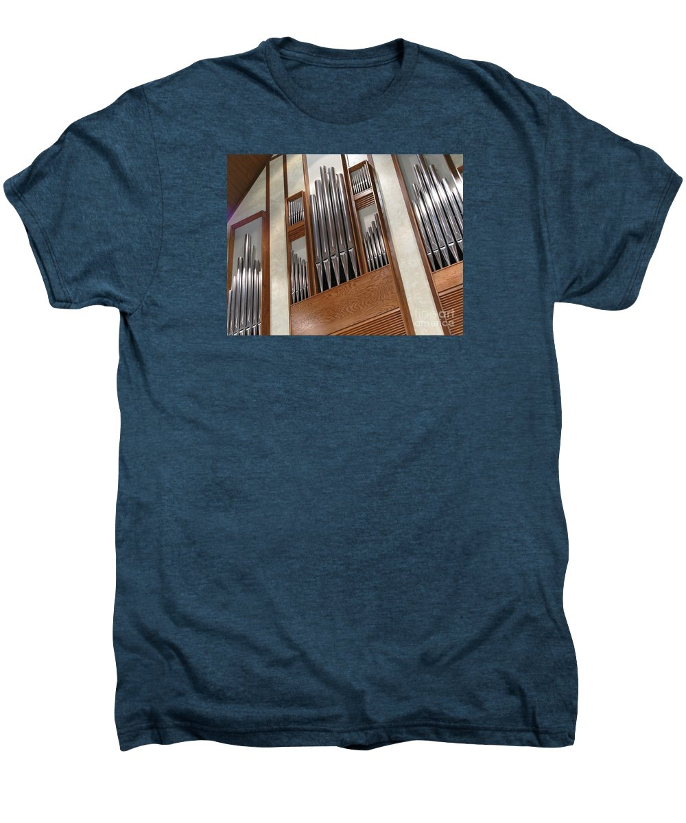 Music Men's Premium T-Shirt featuring the photograph Organ Pipes by Ann Horn
