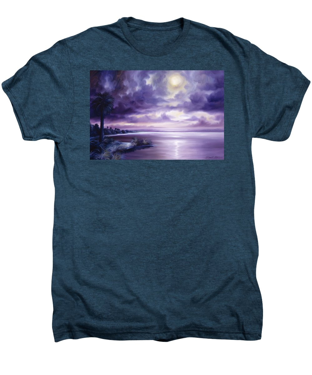 Moon Men's Premium T-Shirt featuring the painting Palmetto Moonscape by James Christopher Hill