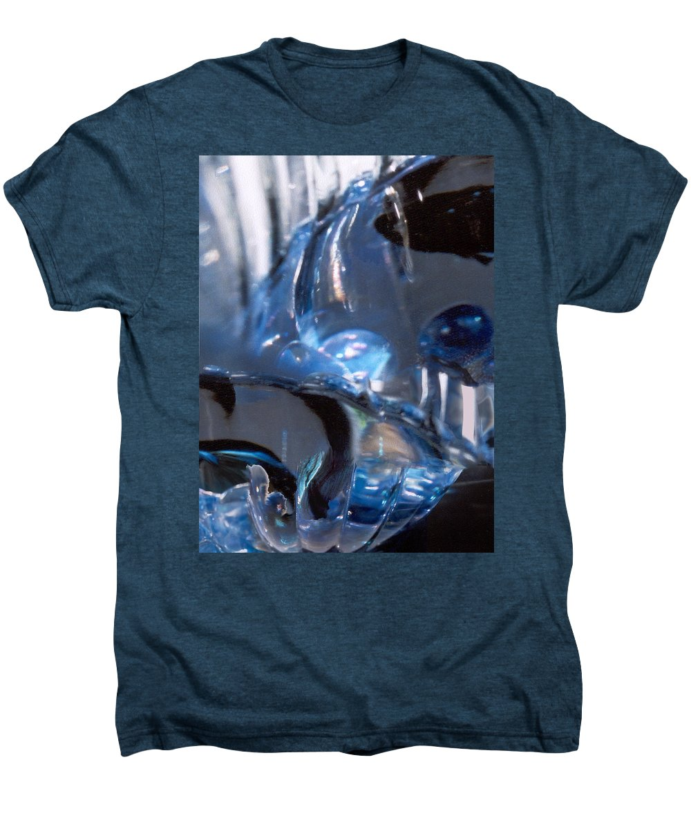 Glass Men's Premium T-Shirt featuring the photograph Panel 2 From Swirl by Steve Karol