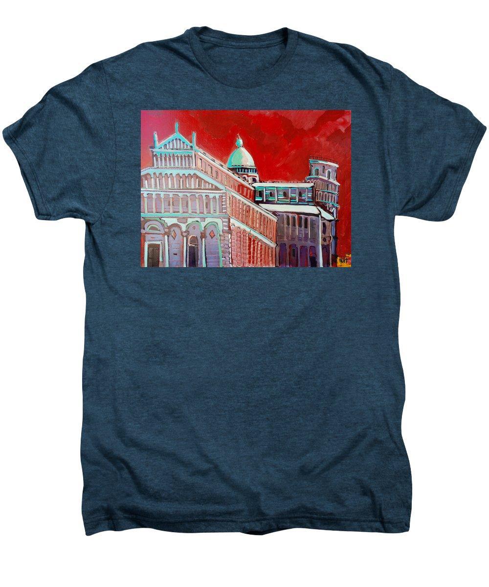 Pisa Men's Premium T-Shirt featuring the painting Pisa by Kurt Hausmann
