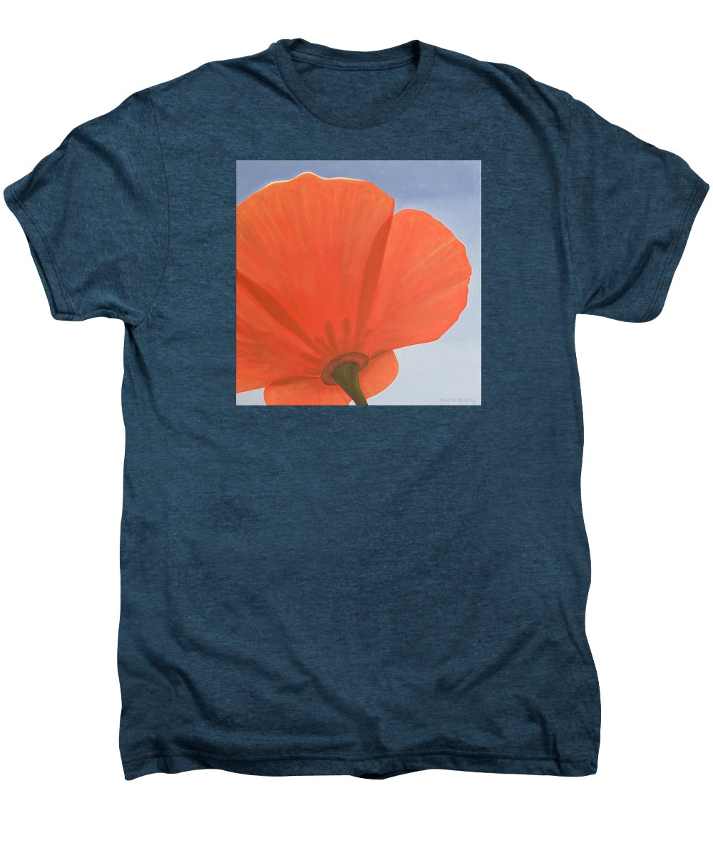 Flower Men's Premium T-Shirt featuring the painting Poppy by Rob De Vries