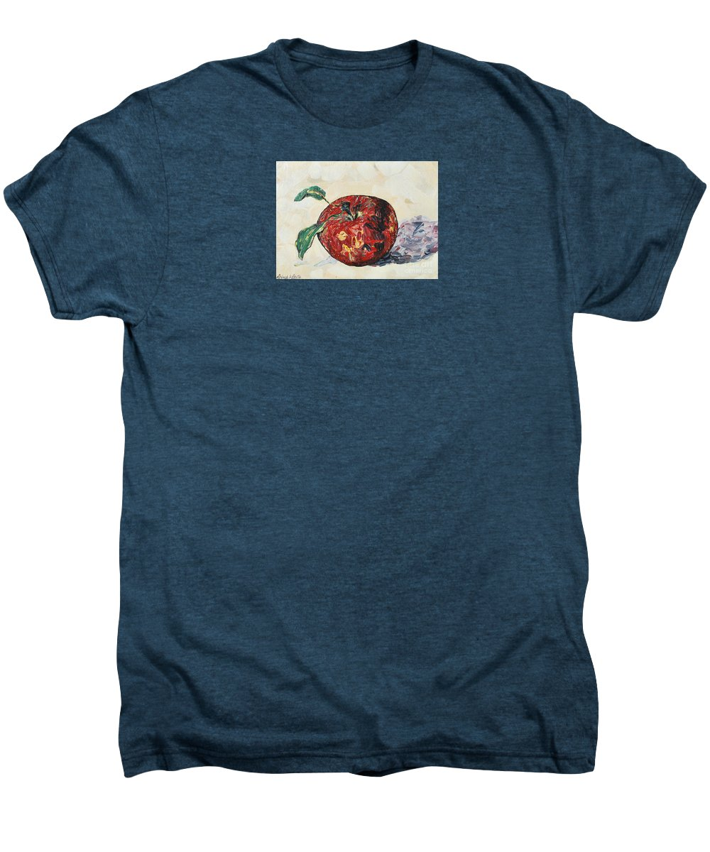 Apples Men's Premium T-Shirt featuring the painting Pretty Apple by Reina Resto