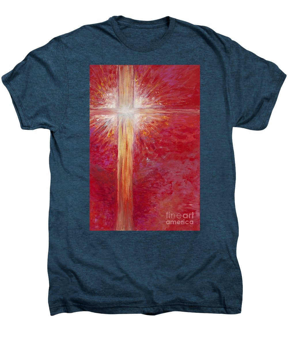 Light Men's Premium T-Shirt featuring the painting Pure Light by Nadine Rippelmeyer