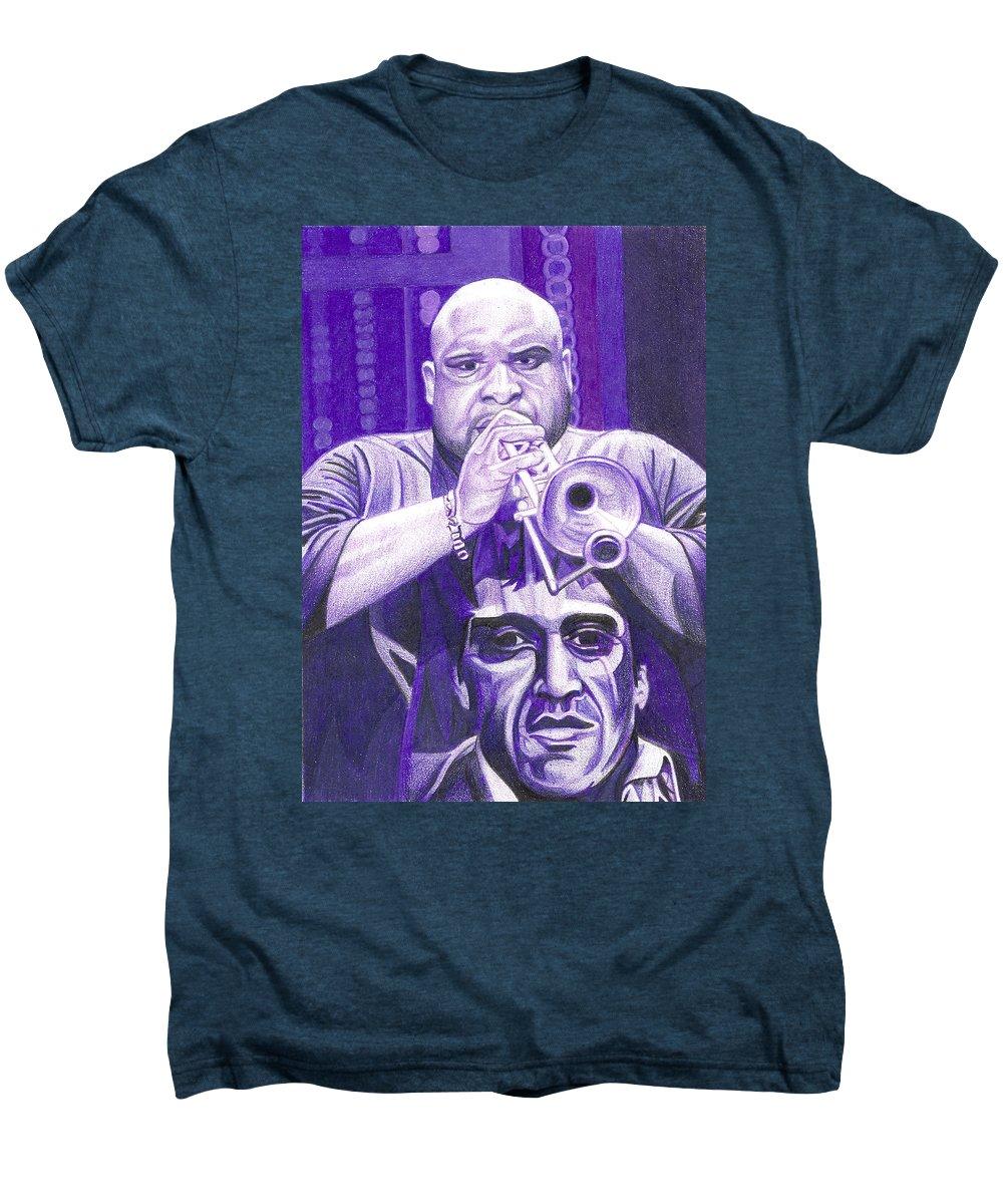 Rashawn Ross Men's Premium T-Shirt featuring the drawing Rashawn Ross by Joshua Morton