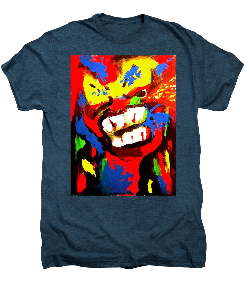 Teenager Men's Premium T-Shirt featuring the painting Rebel Rebel by Alan Hogan