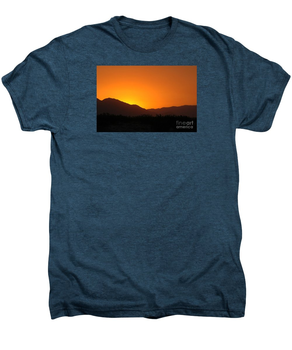 Sunset Men's Premium T-Shirt featuring the photograph San Jacinto Dusk Near Palm Springs by Michael Ziegler