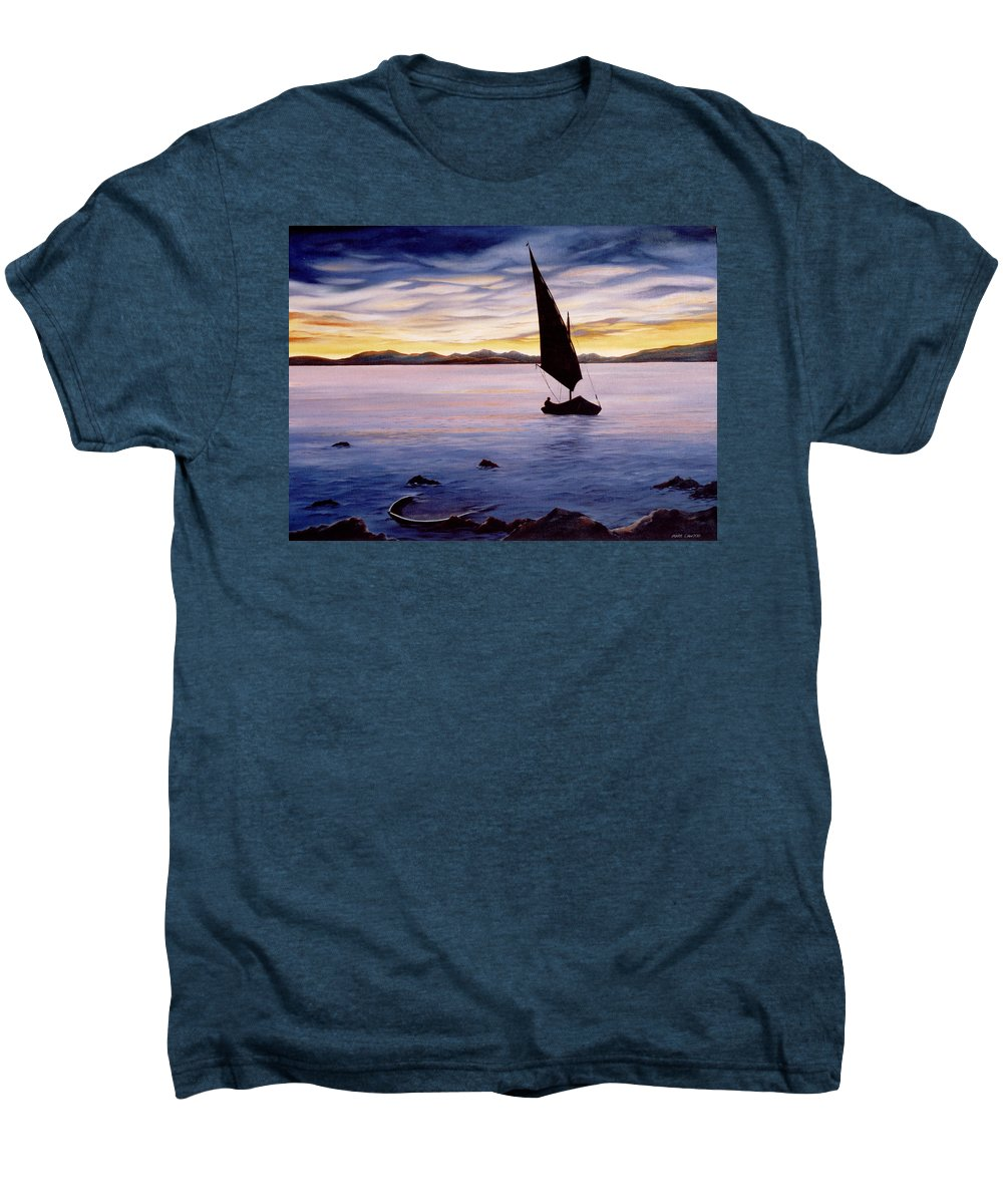 Seascape Men's Premium T-Shirt featuring the painting Sea Of Souls by Mark Cawood