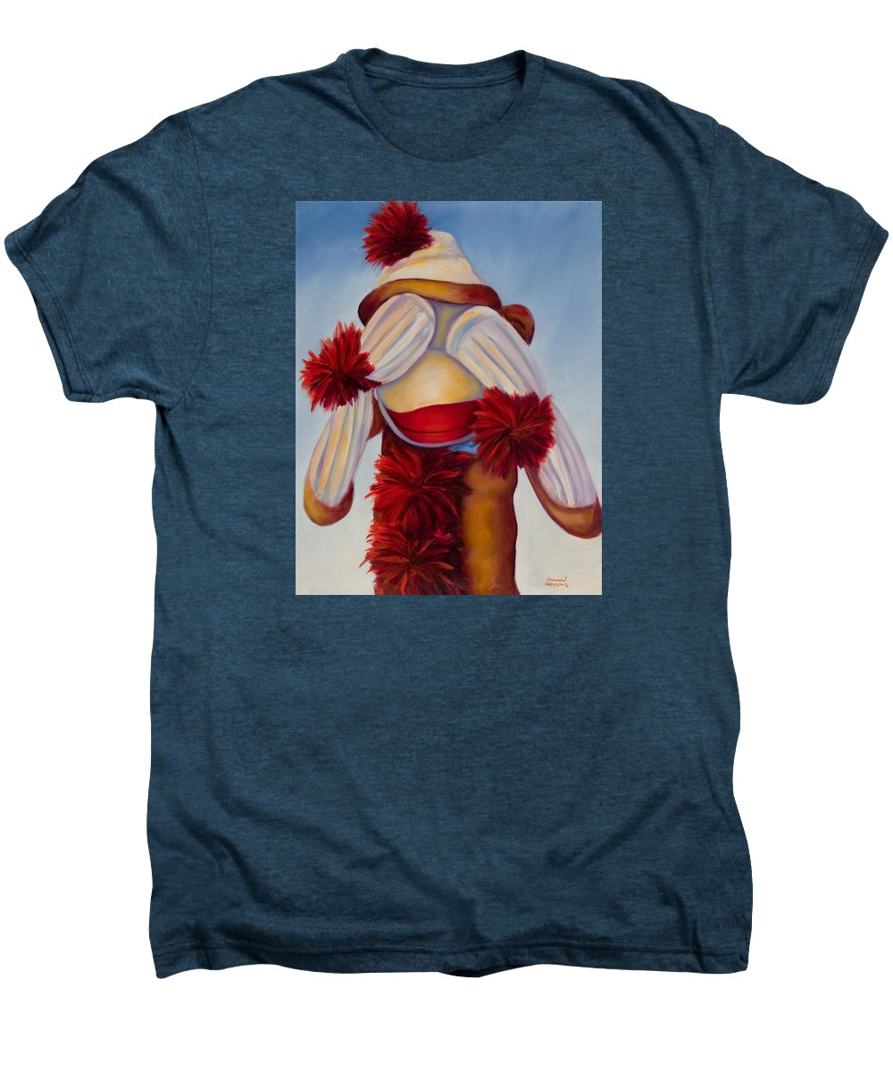 Children Men's Premium T-Shirt featuring the painting See No Bad Stuff by Shannon Grissom