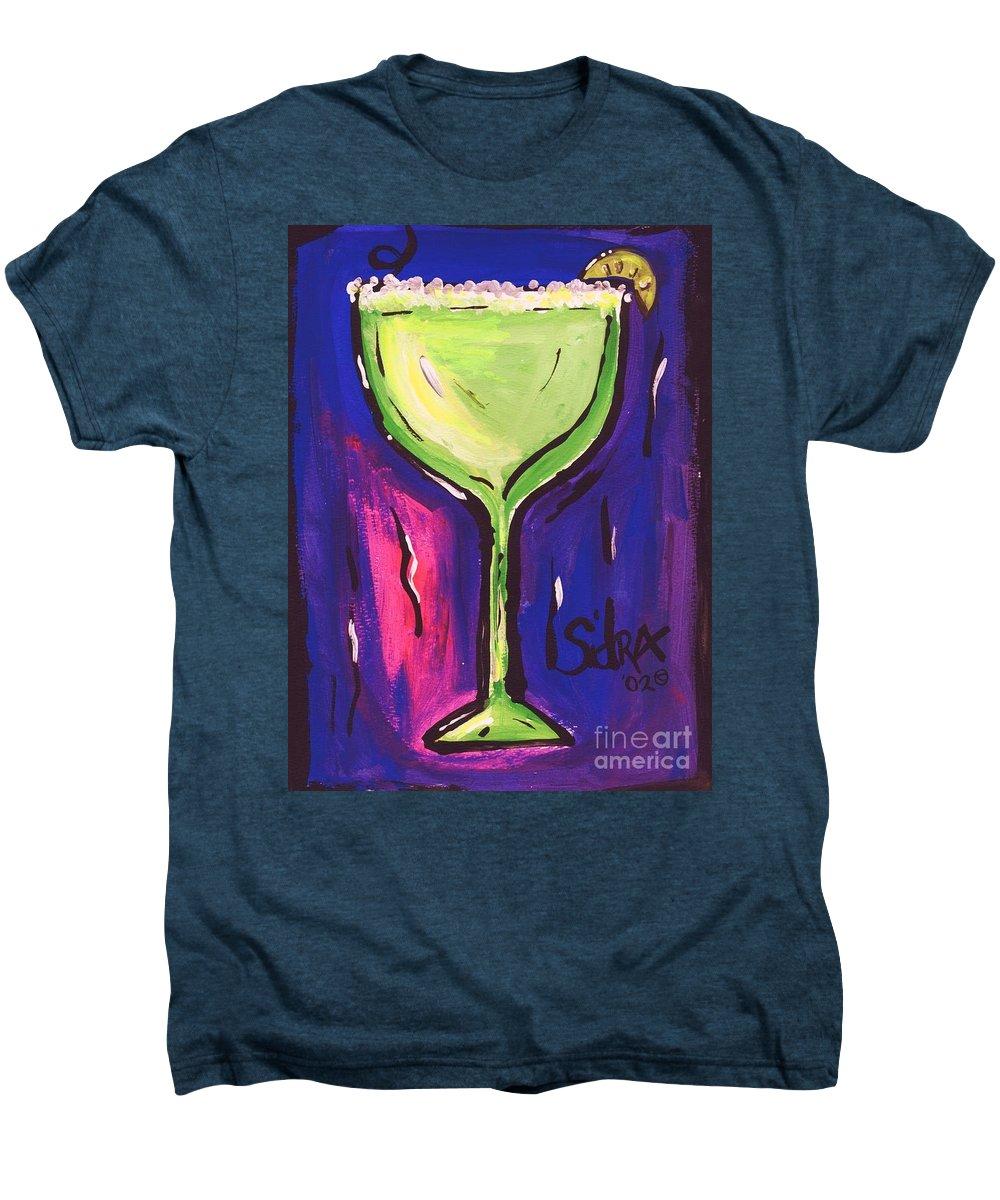 Margarita Men's Premium T-Shirt featuring the painting Sidzart Pop Art Series 2002 Margarita Baby by Sidra Myers