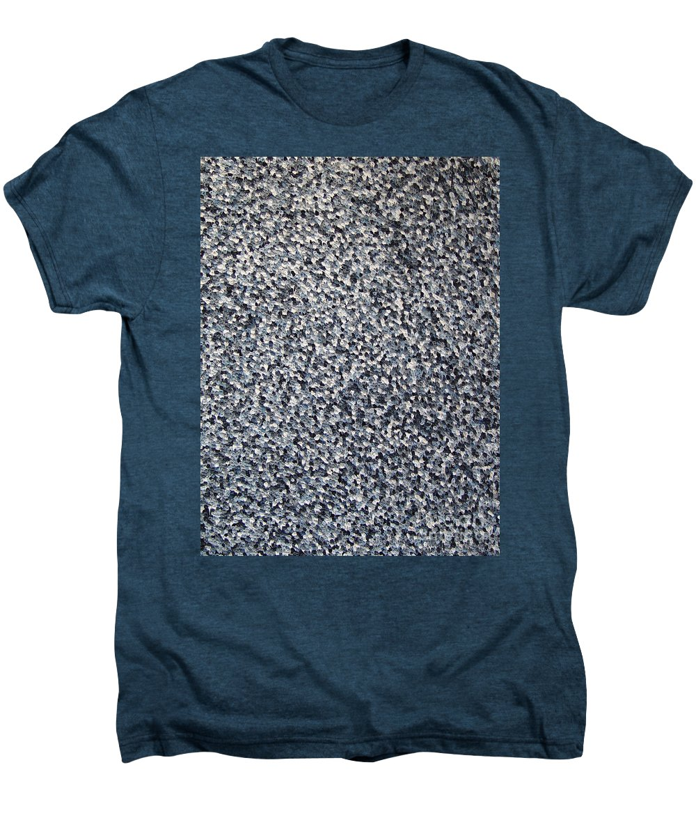 Abstract Men's Premium T-Shirt featuring the painting Soft Grey Scale by Dean Triolo