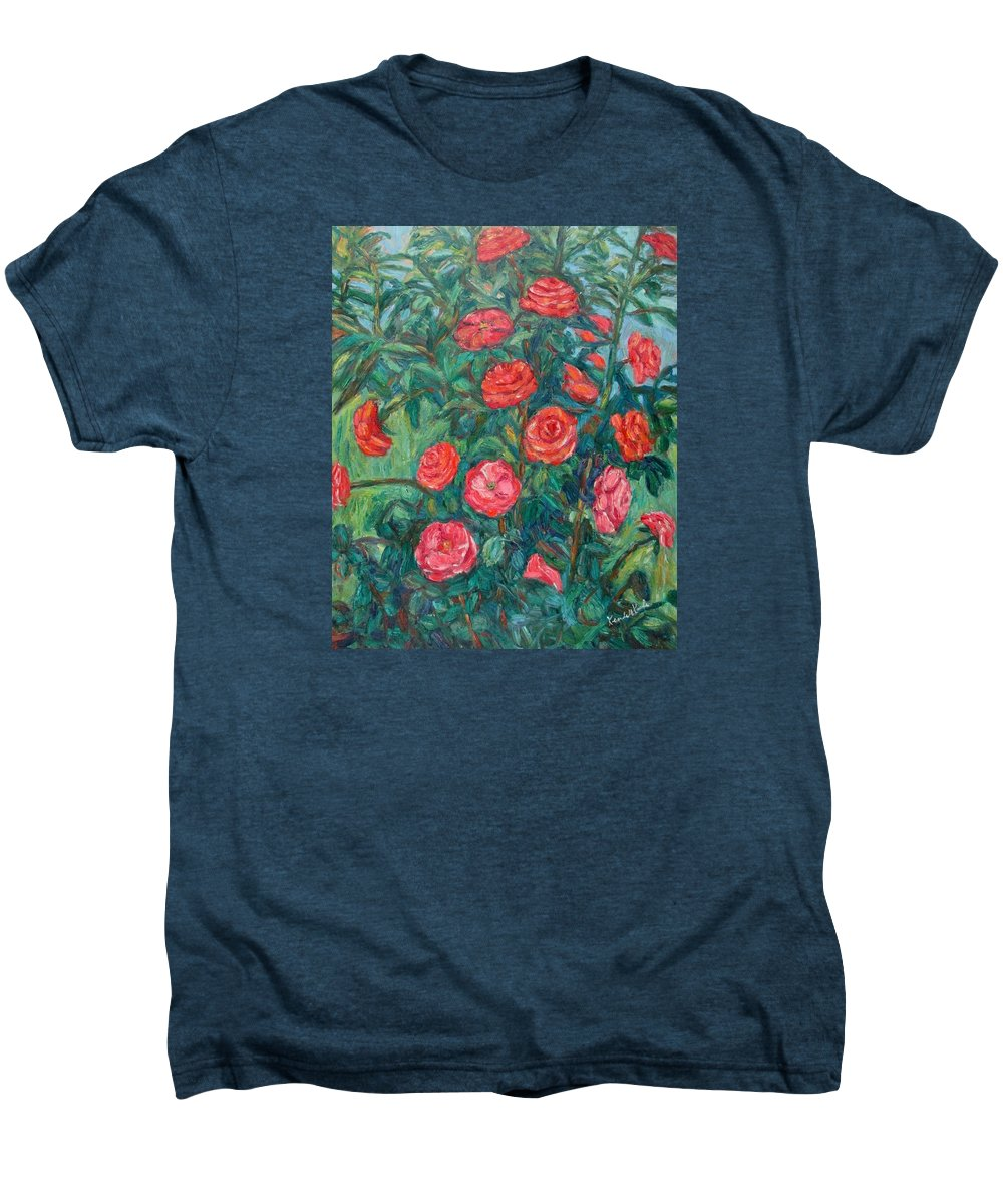 Rose Men's Premium T-Shirt featuring the painting Spring Roses by Kendall Kessler