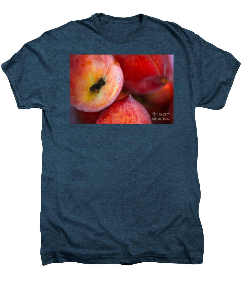 Peach Men's Premium T-Shirt featuring the photograph Summer Peaches by Nadine Rippelmeyer