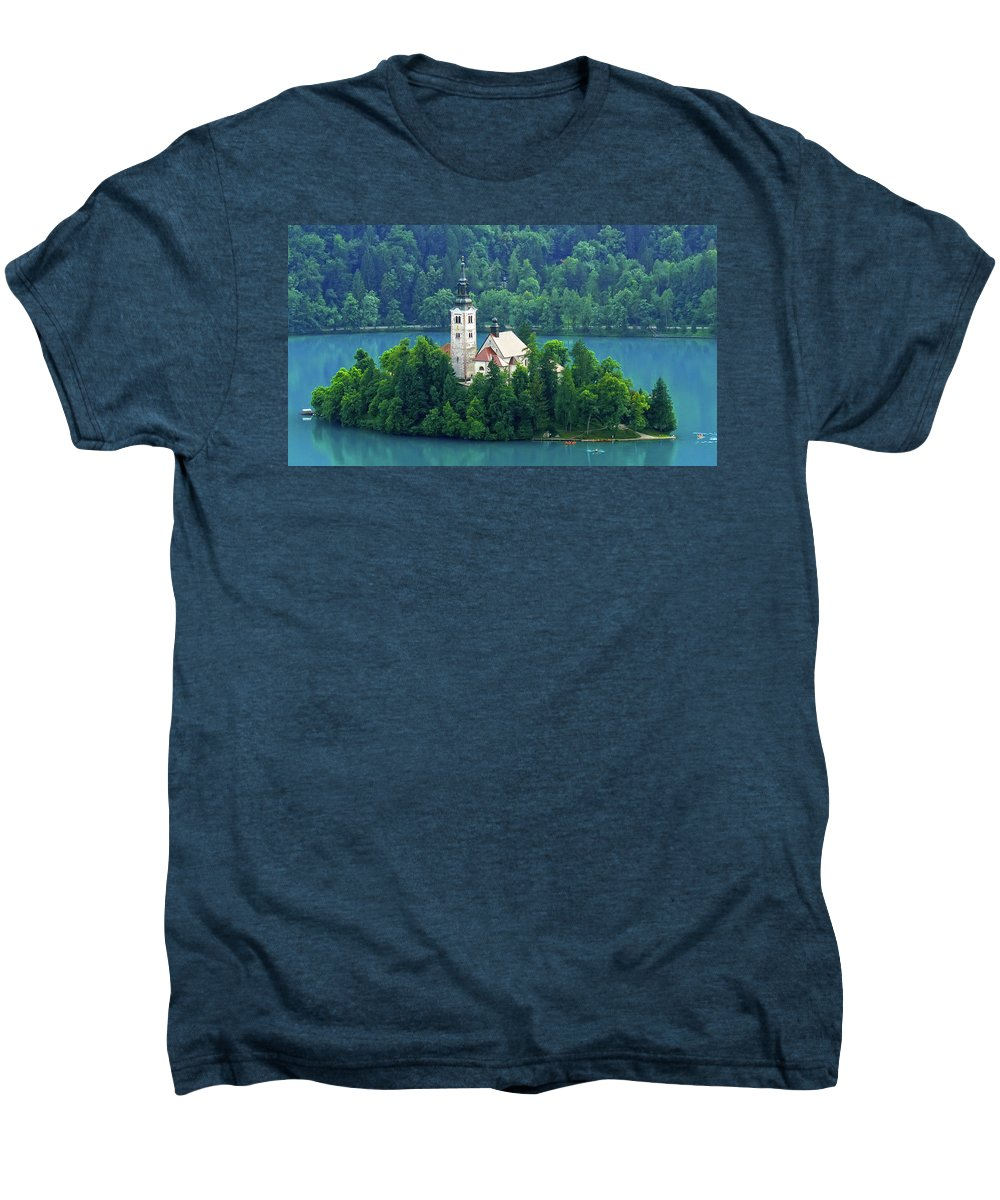 Island Men's Premium T-Shirt featuring the photograph The Island by Daniel Csoka