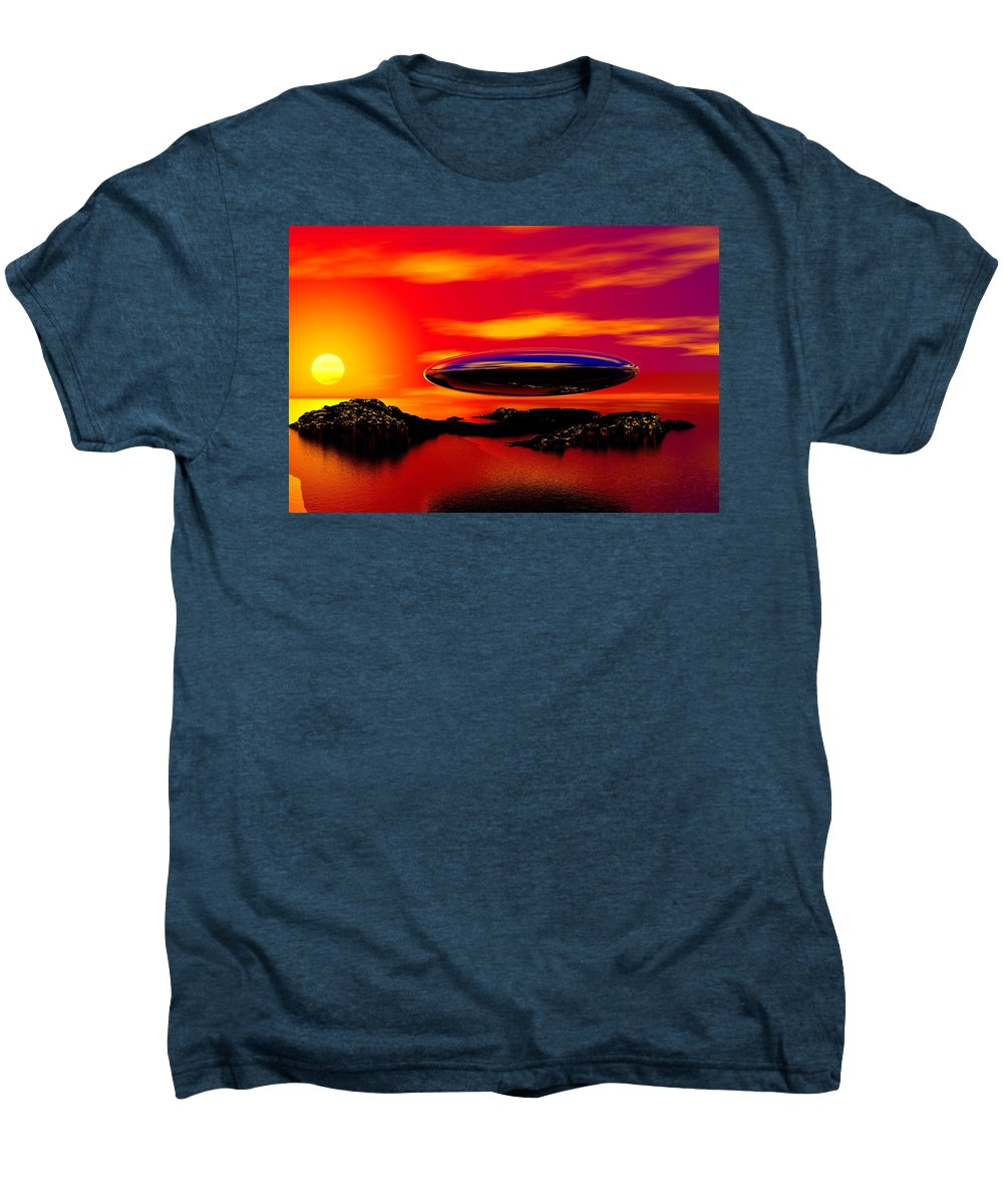 T Men's Premium T-Shirt featuring the digital art The Visitor by David Lane